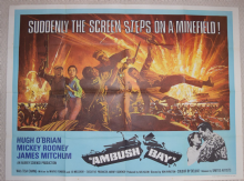 Ambush Bay, Original UK Quad Poster, Mickey Rooney, Hugh O'Brian, '66